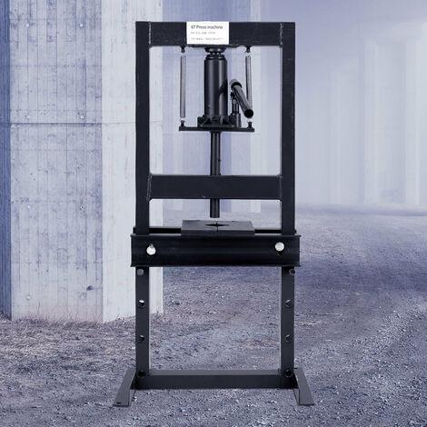 "main image of ""6 Ton Heavy Duty Hydraulic Bench Press Machine Workshop Garage Bearing Standing, Red"""