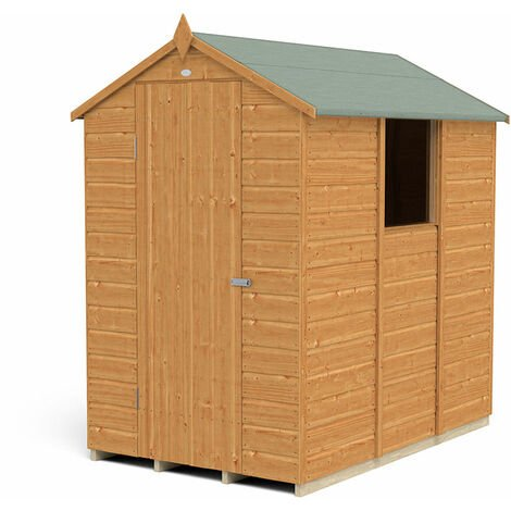 6' x 4' Forest Delamere Shiplap Dip Treated Apex Wooden Shed
