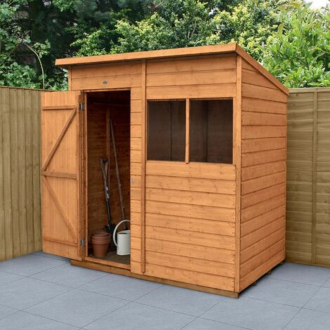6' x 4' Forest Delamere Shiplap Dip Treated Pent Wooden Shed