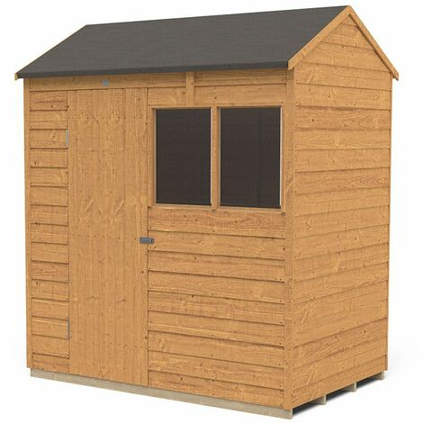 6' x 4' Forest Overlap Dip Treated Reverse Apex Wooden Shed