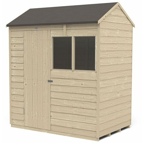 6' x 4' Forest Overlap Pressure Treated Reverse Apex Wooden Shed