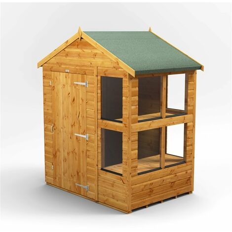 """main image of """"6 x 4 Premium Tongue and Groove Potting Shed - Single Door - 8 Windows - 12mm Tongue and Groove Floor and Roof"""""""