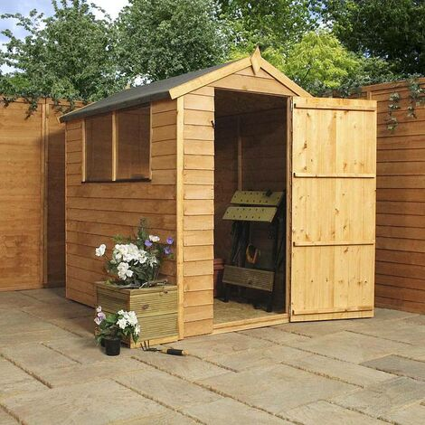 Waltons 6ft x 4ft Overlap Apex Wooden Shed