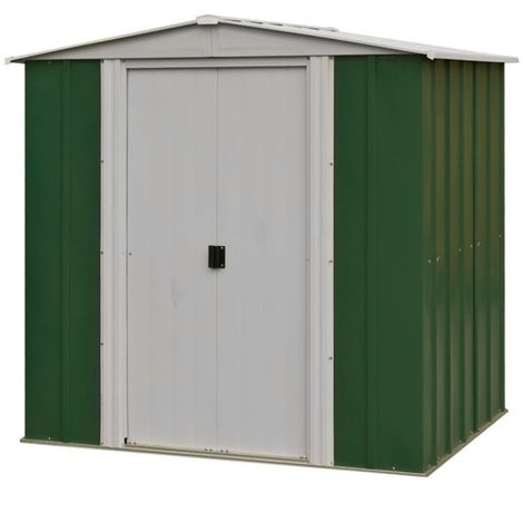 6 x 5 Deluxe Green Metal Apex Shed (1.94m x 1.51m)