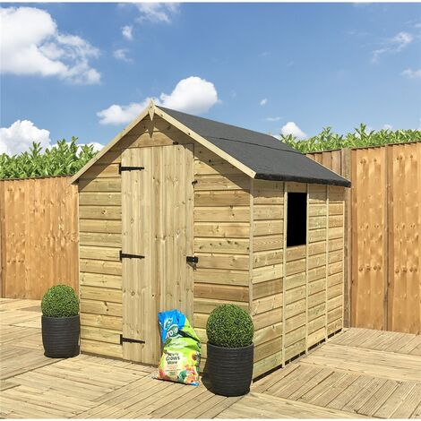 """main image of """"6 x 5 **Flash Reduction** Super Saver Pressure Treated Tongue And Groove Single Door Apex Shed (Low Eaves) + 1 Window"""""""