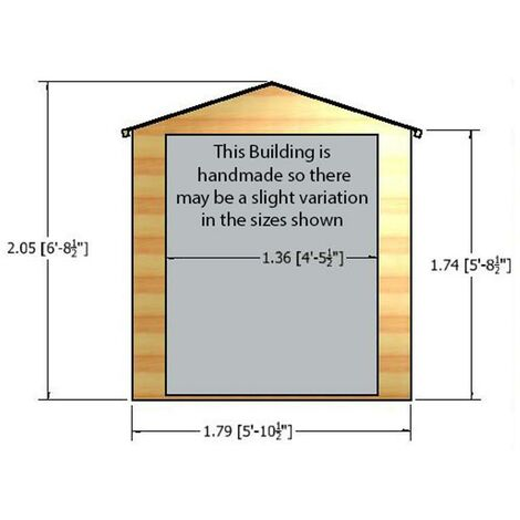 6 x 6 Arran Shiplap Shed with Double Doors