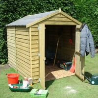 6 x 6 Overlap Shed with Double Doors