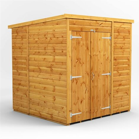 """main image of """"6 x 6 Premium Tongue and Groove Pent Shed - Double Doors - Windowless - 12mm Tongue and Groove Floor and Roof"""""""