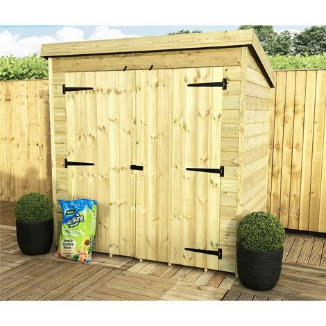 """main image of """"6 x 6 Windowless Pressure Treated Tongue And Groove Pent Shed With Double Doors"""""""