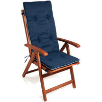 6 x Garden Chair Cushion Recliner Cushions Thick Padding Straps Colour Choice