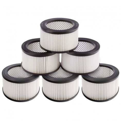 6 x Hepa filters for Ash Vacuum Cleaner, washable easy cleaning