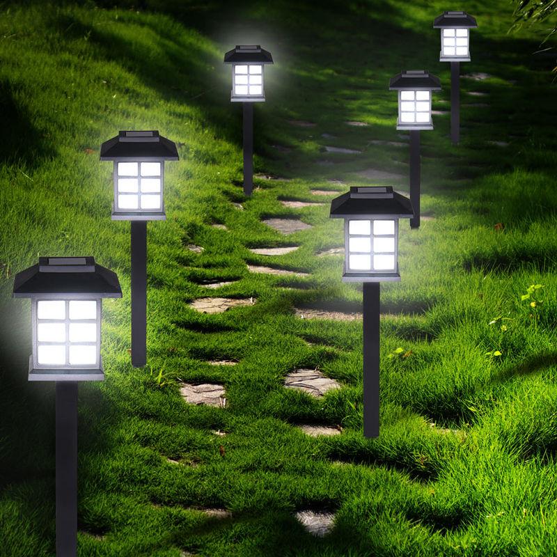 6 X Solar Led Garden Lights Path Lighting