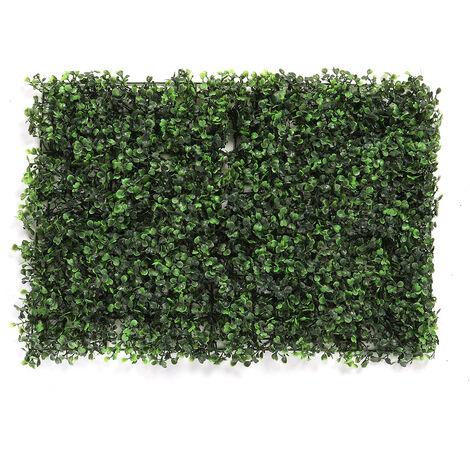 60 * 40 cm pelouse artificielle épaisse herbe plante haie faux jardin vertical vert tapis mural sans coupe cl?ture avec protection de revêtement UV
