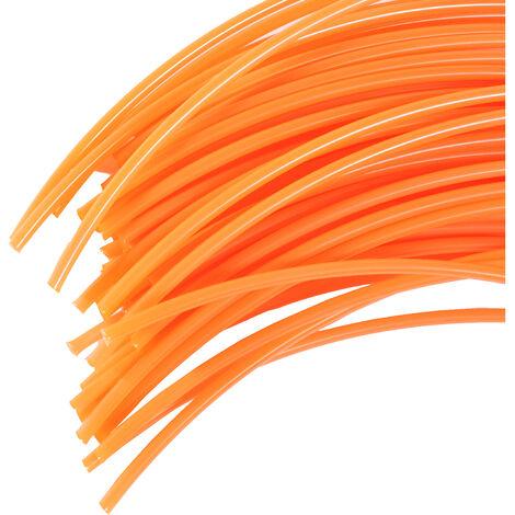 60 Brins de fil professionnel Rond pour débroussailleuse 4,4mm 42cm