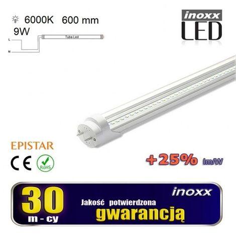 60 centimetri fluorescente T8 G13 9W portato 6000k freddo Lati trasparente