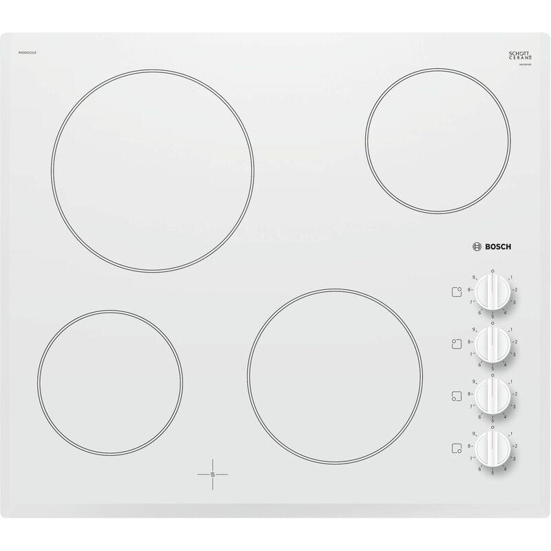 60 cm blanc Bosch SCHOTT CERAN® rahmenlos Knebel - MERCATOXL