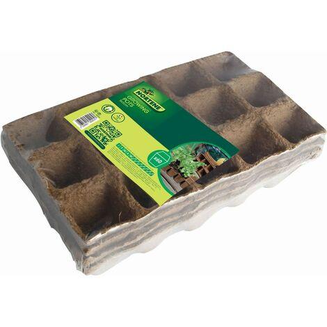 """60 godets pour semis """"Growing Pots"""" - 100 % biodégradables - 5 x 5 cm"""
