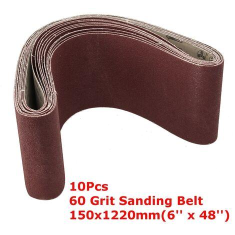 60 Grit 10Pcs 150x1220mm Sanding Belts Industrial Alumina Abrasive Belt Rust Remover