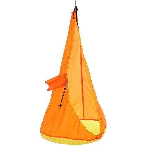 60 kg Portable enfants Hamac suspendu Balancoire siège maison extérieur intérieur jardin voyage Orange