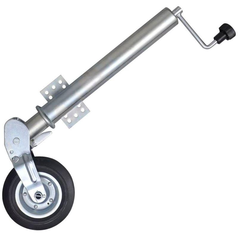 Roue jockey pour remorque pliable 60 mm Charge 400 kg avec plaque de montage