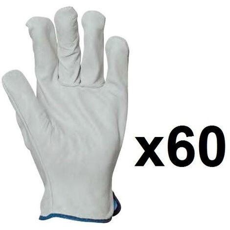 60 paires de gants cuir tout fleur EUROPROTECTION MO2240 - plusieurs modèles disponibles