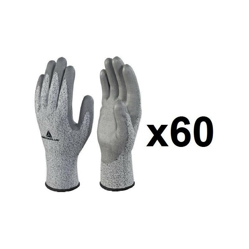 60 paires de gants tricot fibre coco enduction polyuréthane VECUT34GTG3 Delta Plus (11) - Taille : 11
