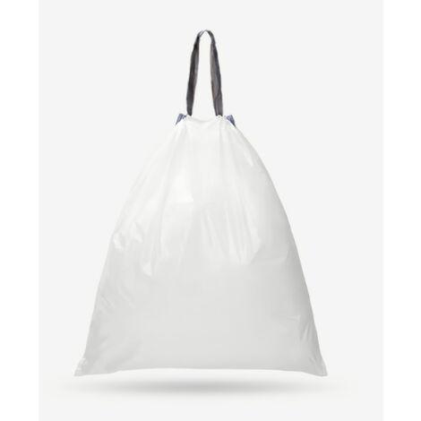 60 Pcs Xiaomi Mijoy Sac A Cordonnet Garbage Fort Thicken Sac En Plastique Poubelle Sac A Cordonnet Cuisine Chambre Rubbish Sac 45X50Mm, Blanc