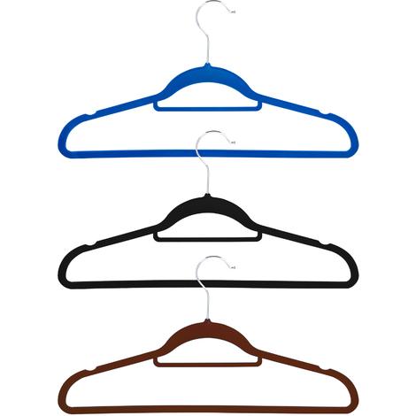 50er SET Platzsparende Kleiderbügel Wäschebügel Raumsparbügel mit Samt-Überzug