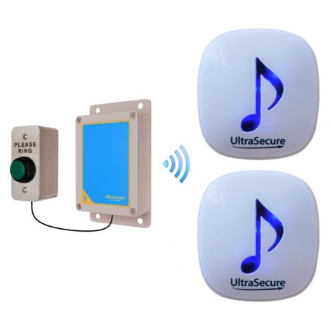 600 metre DA600 Wireless Doorbell with 2 x Receivers [006-2960]