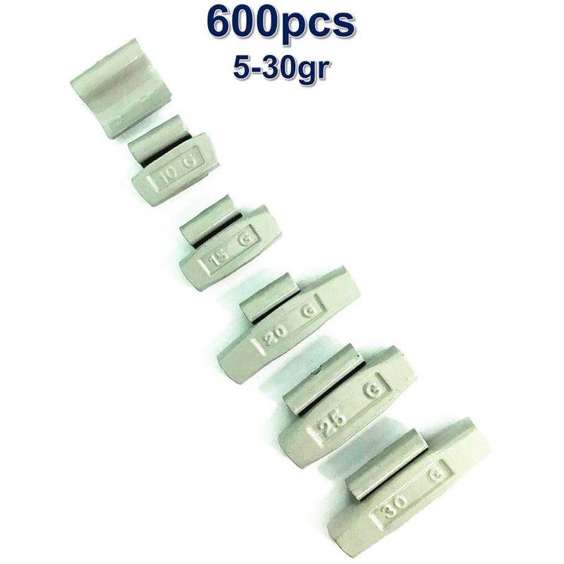 600 Plombs Masses d'Equilibrage à Frapper Poids Pour Jantes Acier 5-30g