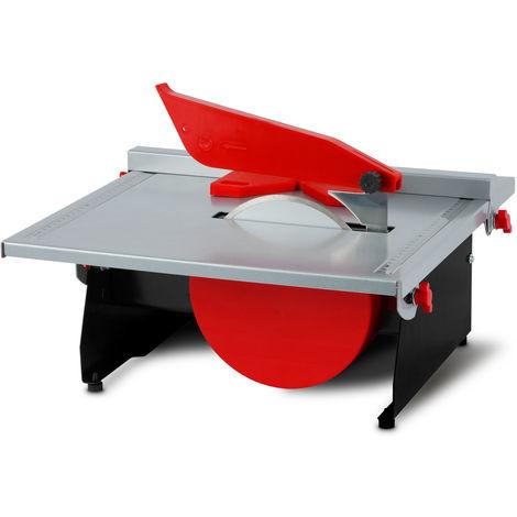 600 Watt elektrische Fliesenschneidemaschine (stufenlos schwenkbar bis 45°, Parallelanschlag, 180 mm Diamanttrennscheibe, Wasserbad)
