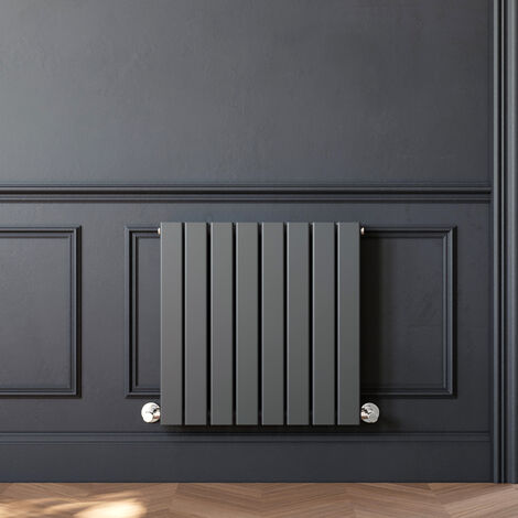 600 x 600 mm Anthracite Horizontal Column Designer Radiator Double Flat Panel Radiator Heater