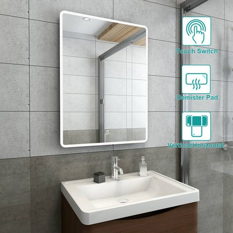 600 x 800mm Bathroom Illuminated LED Mirror with Demister Pad(Type A)