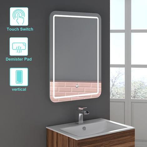 600 x 800mm Bathroom Illuminated LED Mirror with Demister Pad(Type D)