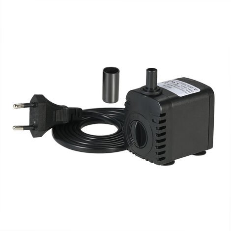 600L/H 8W Submersible Water Pump Hydroponic Systems with 2 Nozzles AC220-240V
