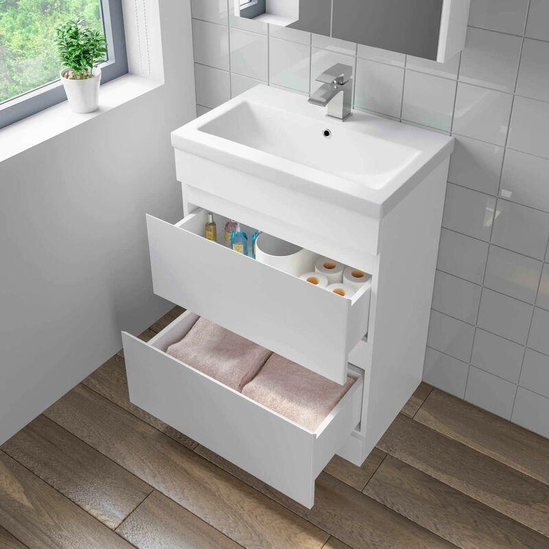 600mm Bathroom Basin Sink Vanity Unit 2