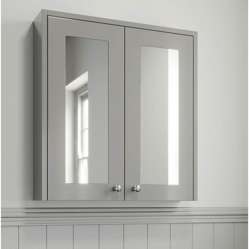 600mm Bathroom Mirror Cabinet 2 Door