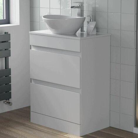 Fine 600Mm Bathroom Vanity Unit Floor Standing Countertop Oval Download Free Architecture Designs Ogrambritishbridgeorg