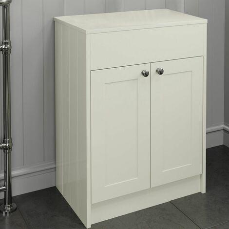600mm Ivory Traditional Vanity Unit Countertop Floorstanding Bathroom Furniture