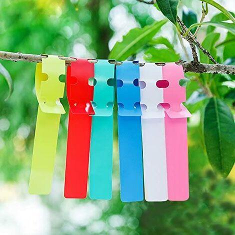 600pcs waterproof reusable plastic plant labels, garden labels tags markers, 6 colors