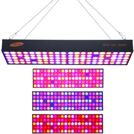 600W LED Grow Light LED Panel Growing Light Full Spectrum for Hydroponic Greenhouse Indoor Plant Seedling Flower Vegetative Growth