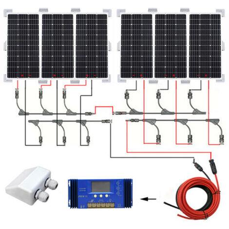 600W OFF grid solar system 6*100W PV Mono Solar panel w/ controller FOR camper