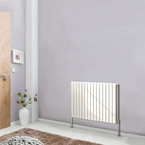 600x1020 Horizontal Flat Double Panel Column Designer White Radiator Bathroom Heater Central Heating