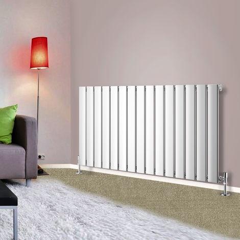 600x1020 Horizontal Flat Panel Radiator Bathroom Central Heating Radiators Single Column Chrome