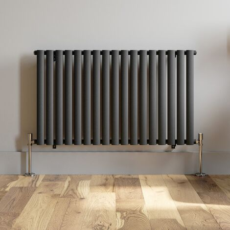 600x1020mm Horizontal Oval Column Designer Radiator Horizontal Anthracite
