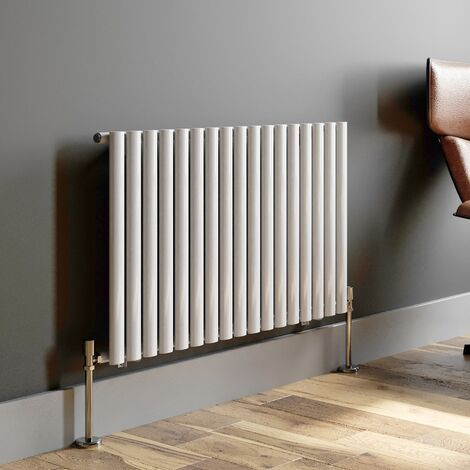 600x1020mm Horizontal Radiator Single Panel Oval Tube Column White Modern