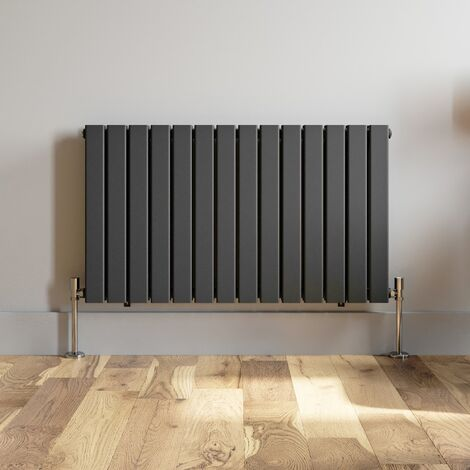 600x1064mm Anthracite Designer Radiator Horizontal Flat Panel Double Panel Rad