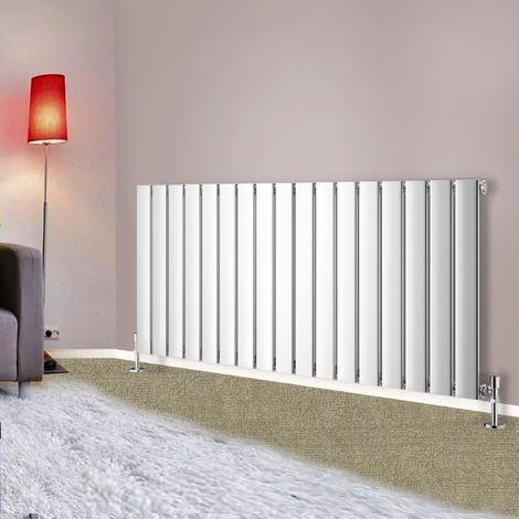 600x1156 Horizontal Flat Panel Radiator Bathroom Central Heating Radiators Single Column Chrome