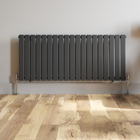 600x1440mm Anthracite Designer Radiator Horizontal Flat Panel Single Panel Rad