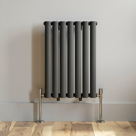 600x420mm Horizontal Oval Column Designer Radiator Horizontal Anthracite